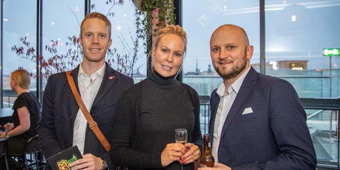 Magnus Barkestan från Clarion Hotel, Louise Kjellberg, Funka och Albin Bauer, från Clarion Sign. Foto: Johan Persson, photojohan