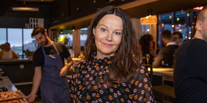 Kvällens sponsor Pia Sellstedt, eventmanager på TAK. Foto: Johan Persson, photojohan