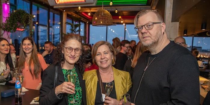 Helens Crowe Blomgren, Marknadsföreningen Stockholm, Kerstin Fagerwall, Subtopia och Björn Grunner, Mevida. Foto: Johan Persson, photojohan