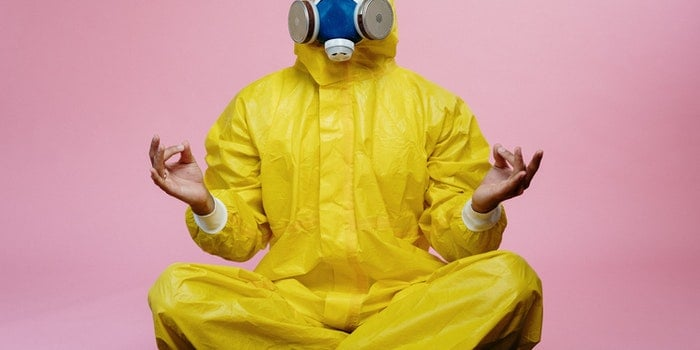 man in yellow protective suit 3951373