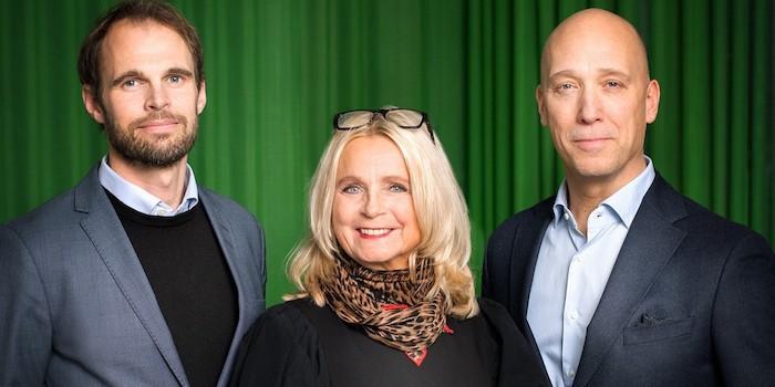 Från vänster: Pontus Esbo, vd Middlepoint / Cissi Meltzer, grundare och styrelseordförande i Middlepoint / Joakim Markovits, vd Inspira.