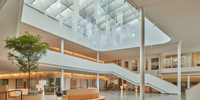 Axis vardagsrum - en samlingsplats för alla medarbetare.