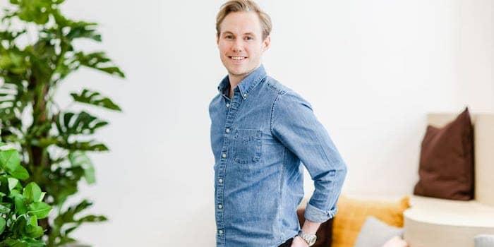 Alexander Eliasson är Workplace Manager på Fortnox, en av Wihlborgs hyresgäster i fastigheten Sparven i centrala Malmö.
